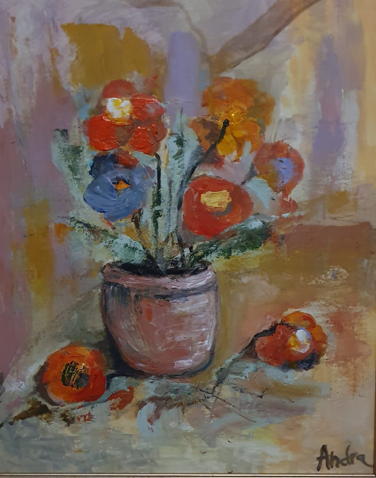 Flori-50x40-cm-acrilic-pe-panza