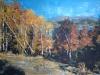 Peisaj de toamna la Maneciu-Ungureni - ulei pe carton panzat, 35x50 cm