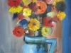 Ulcica cu flori 30x39cm, ulei/carton