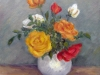 Trandafiri 27x25cm, ulei/carton