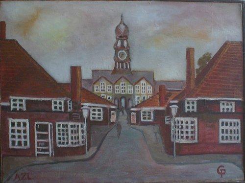 Spitalul Academiei Leiden 60x75cm, ulei/panza