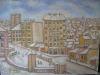 Iarna in Bucuresti 50x65cm, ulei/carton