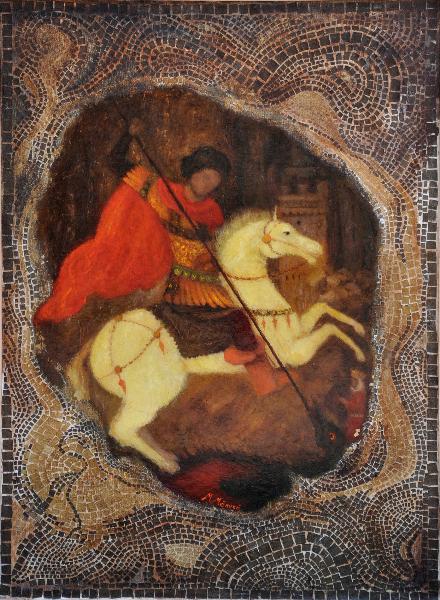 sfantul-gheorghe-ulei-pe-panza-70x45