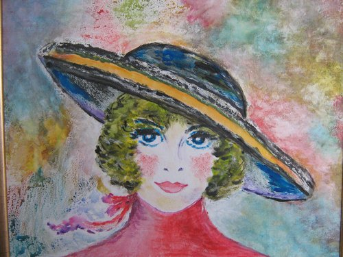 My fair lady 37x45cm, tempera/carton