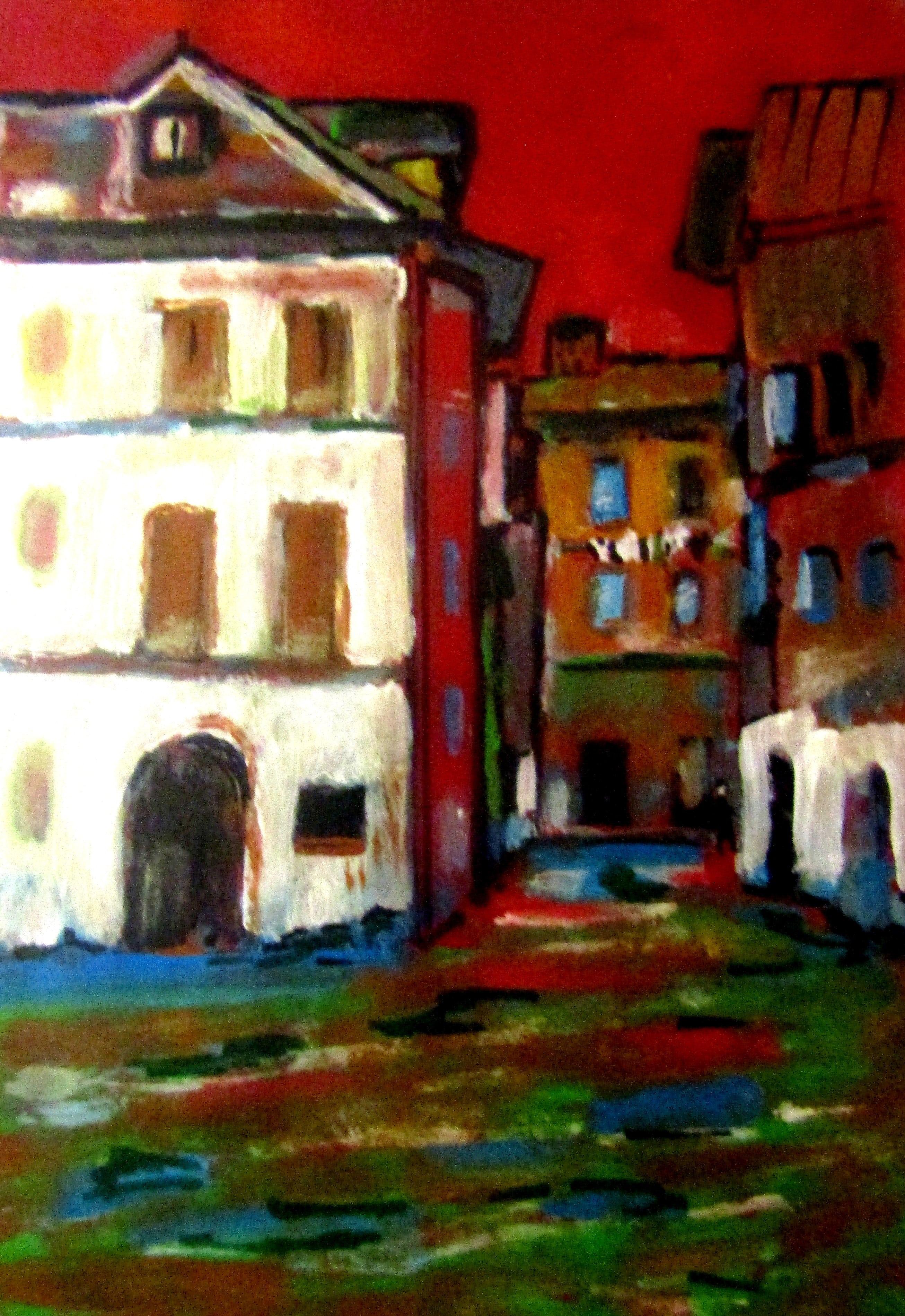 Veneția în asfințit (30/40, tempera pe carton)