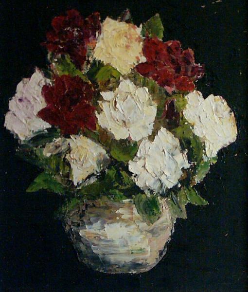 vas-cu-trandafiri2-ulei-carton-35x30