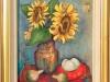 Floarea soarelui 31x33cm, ulei/carton