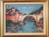 Vechiul pod Mostar 35x50cm, ulei/carton