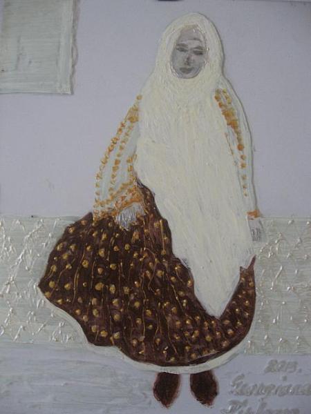 Bunica sotului / 29 x 21 cm / gravura pe sticla aplicata peste lemn pictat / 2013;
