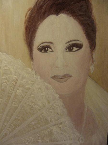"""Studiu \"""" Dana \"""" / 30 x 24 cm / tehnica mixta, pictura pe lemn si sticla sintetica / 2013;"""