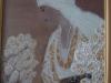 Regina Maria a Romaniei in costum popular / 29 x 21 cm / tehnica mixta , pictura pe lemn si sticla sintetica / 2013;