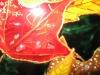 """Detaliu la \""""Roua frunzelor \"""" / 50 x 40 cm / pictura pe sticla cu culori vitraliu / 2013;"""