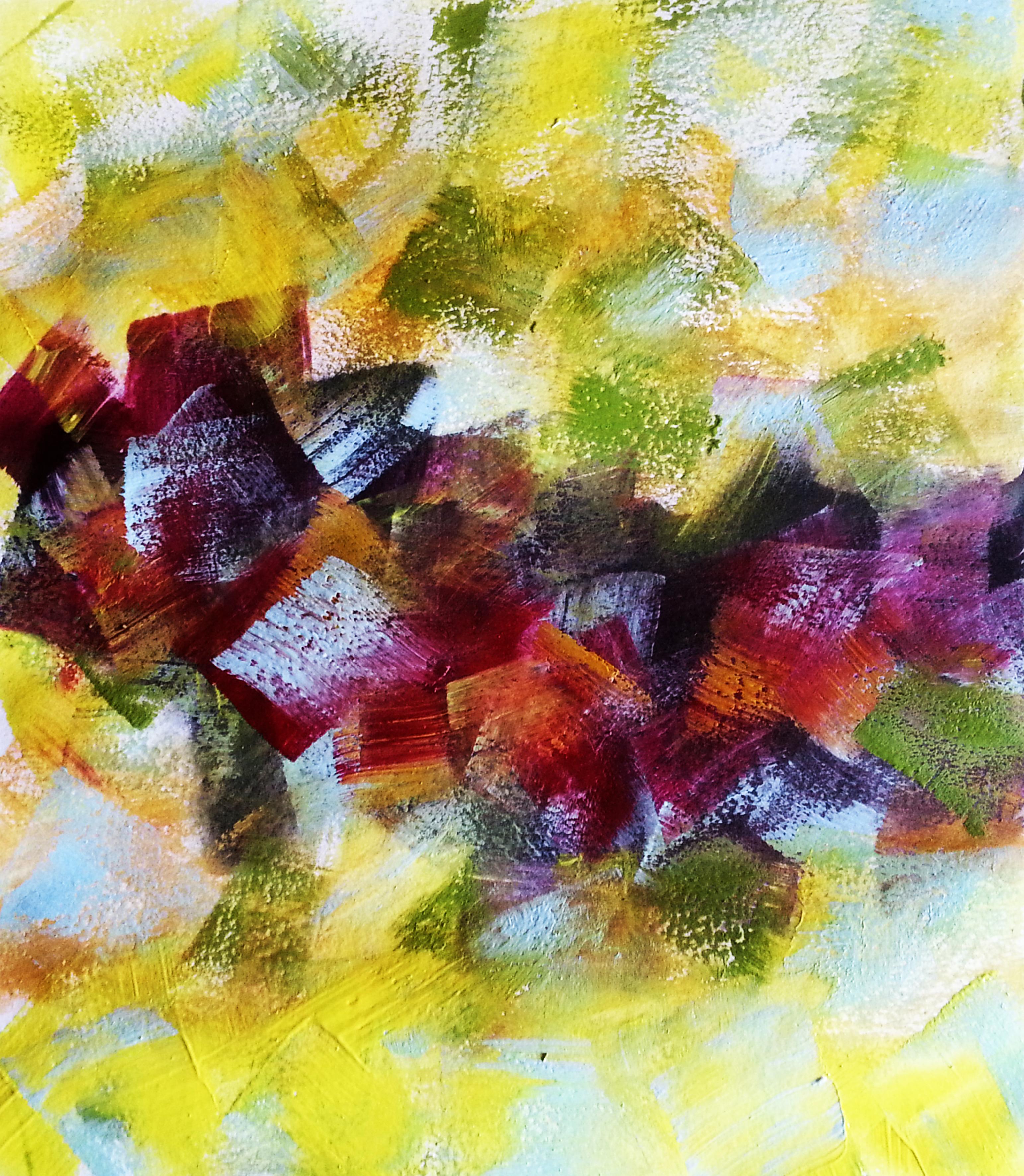 3-Autumn Falling -acrilic.panza, 60x60 cm