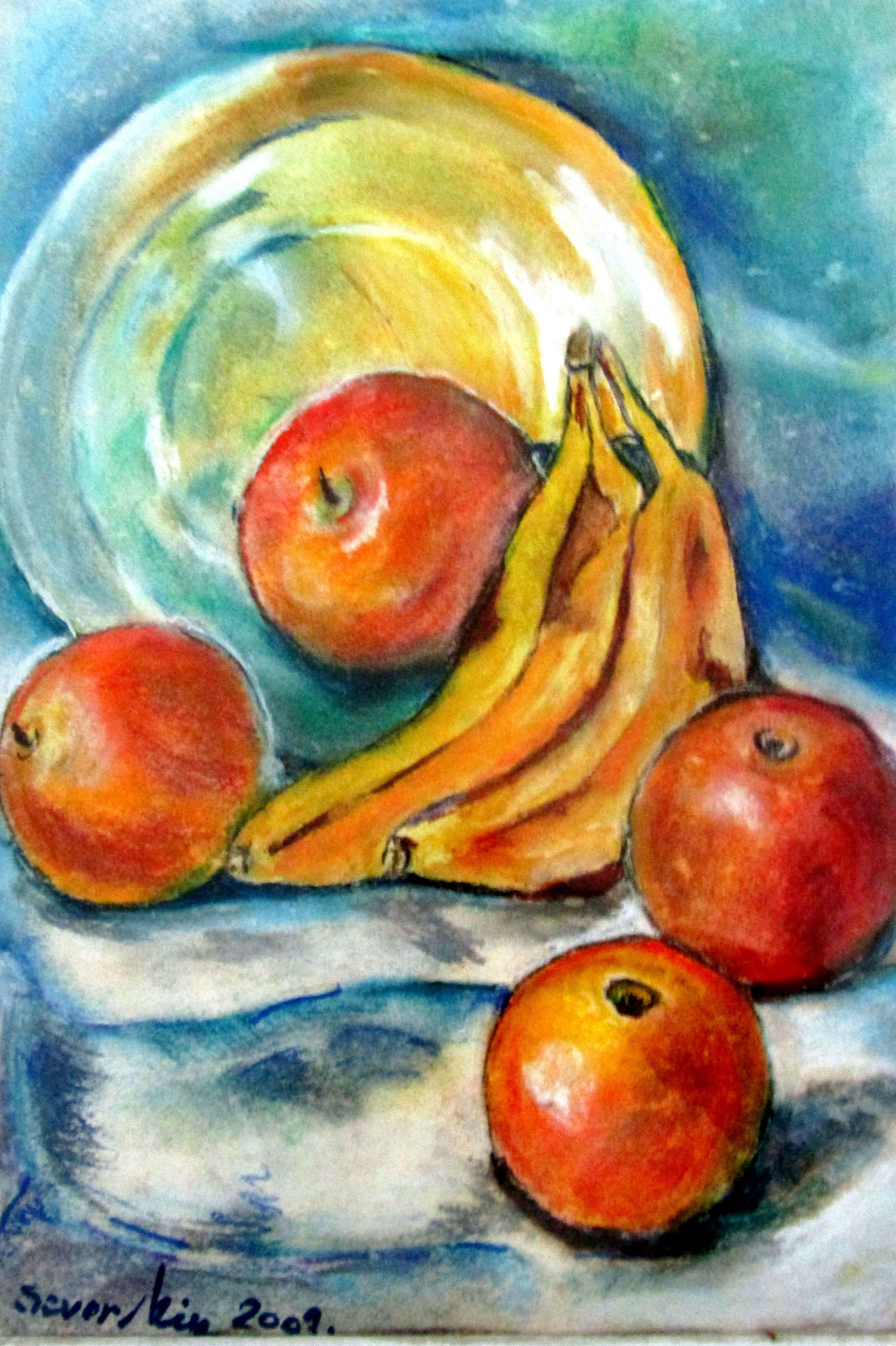 Exotism fructifer -40/30 tempera pe carton
