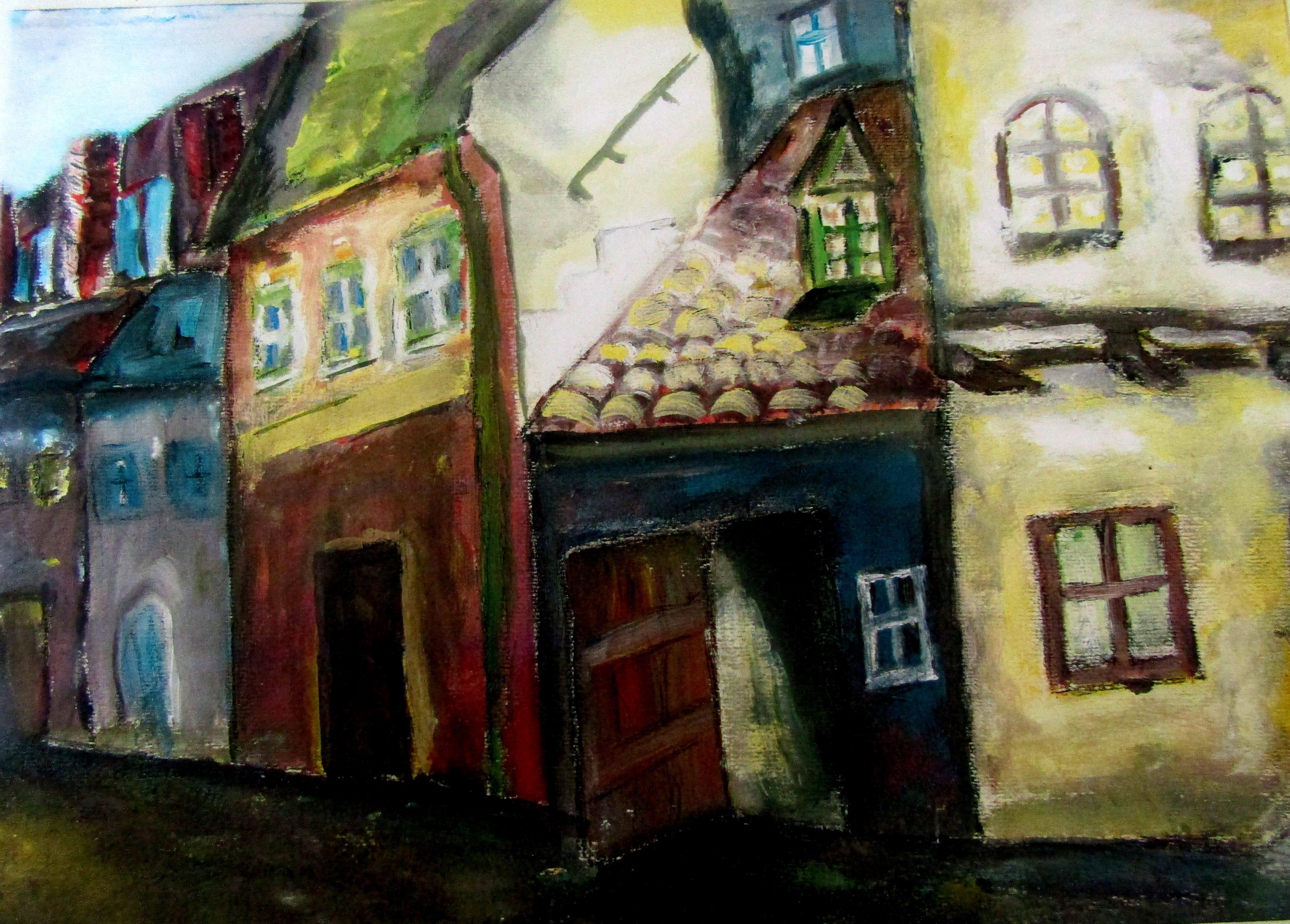 Zolotaia ulicica. Praga -30/40 tempera