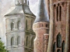 Astorga- catedrala si  palatul episcopal (Gaudi)