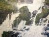 Cascada Iguacu, furia apei - ulei pe carton panzat, 70x50 cm