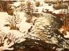 Peisaj de iarna cu rau - ulei pe carton panzat, 35x50 cm