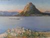 4.Oglinda lacului-ulei pe pânză, 32x48cm