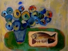 Fish-and-Flowers - 60x80 cm