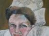 Fata din Bretagne 40x30cm, ulei/panza