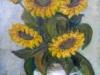 Floarea soarelui 42x28cm, ulei/carton