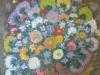 Flori 65x54cm, ulei/carton