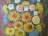 Flori de gradina 66x50cm, ulei/carton