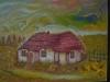 Casa de deportat politic 35x45cm, ulei/carton