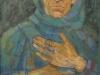 Bunica din negura vremii-ulei pe carton-58x36