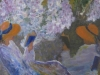 Lumi paralele / Surorile / 80 x 60 cm / tehnica mixta, pictura pe lemn si sticla sintetica / 2013;