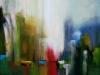 1-Abstract City -acrilic.panza, 40x40 cm