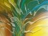 2-Abstract Leaves -acrilic.panza, 50x50 cm
