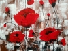 8-Poppies- acrilic.panza, 40x30 cm