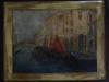 Venetiana.tehnica flamanda pe lemn.50-40cm.2015-min